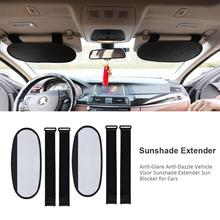 Car Sun Protector Anti-Glare Anti-Dazzle Vehicle Visor Sunshade Extender Blocker For Cars Vans Trucks Windshield
