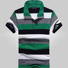 2016 new fashion high quality mens short sleeve cotton striped shark polo shirt, male comfortable cool shirts 903