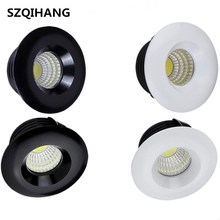CE ROSH High Quality Round/Square/3W/5W/White/Black Dimmable Mini COB LED Downlights Lamps