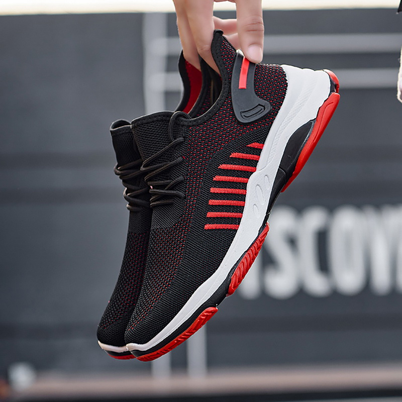 Monerffi Casual-Shoes Sneakers Light Tenis Comfortable Men Woven Masculino Lace-Up Wear-Resistant
