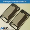 Высокое Качество Крышка Батарейного Отсека Задняя Дверь Задние Стекла Корпус для iPhone 4 4S БЕЛЫЙ ЧЕРНЫЙ крышка Батарейного Отсека Сзади Корпуса Бесплатно доставка