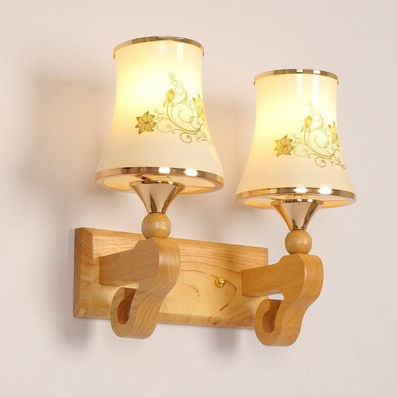Современные Настенные светильники творческих дерево света настенный светильник ночники Спальня Коридор освещения отеля zl17 ya74
