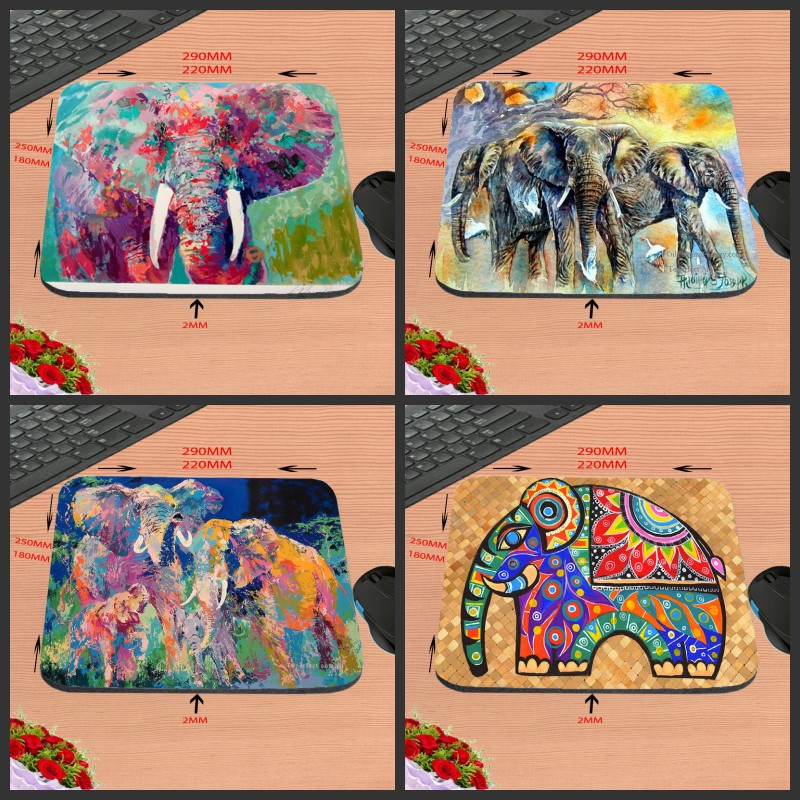 Mairuige Animal Elephant Rubber Print Mouse Mat Laptop Computer Gaming Mice Pads For Optical Laster Mats 18*22/25*20/29*25*2cm ...