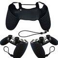 Borracha de Silicone pele não - deslizamento caso capa aderência para Sony PS4 controlador com cordão