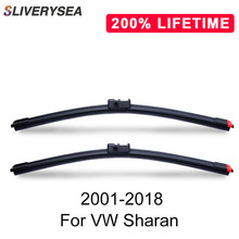SLIVERYSEA Replace Wiper Blade for Sharan 2001-2018 Silicone Rubber Windshield Windscreen Auto Car Accessories