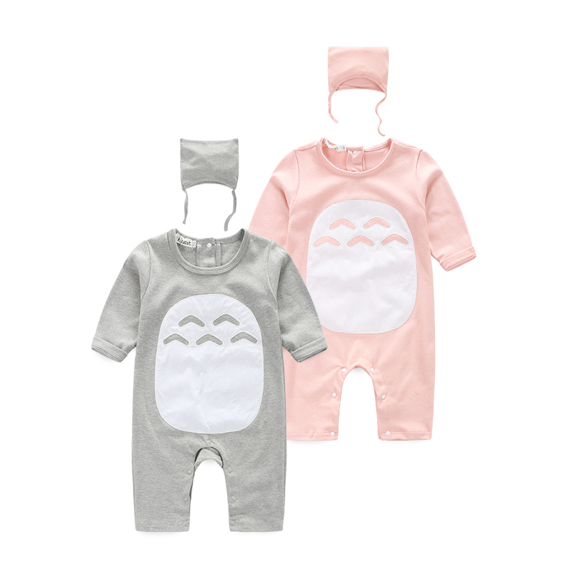 baby girls and boy clothes cute animal Totoro baby costume bebes baby   rompers   with hat