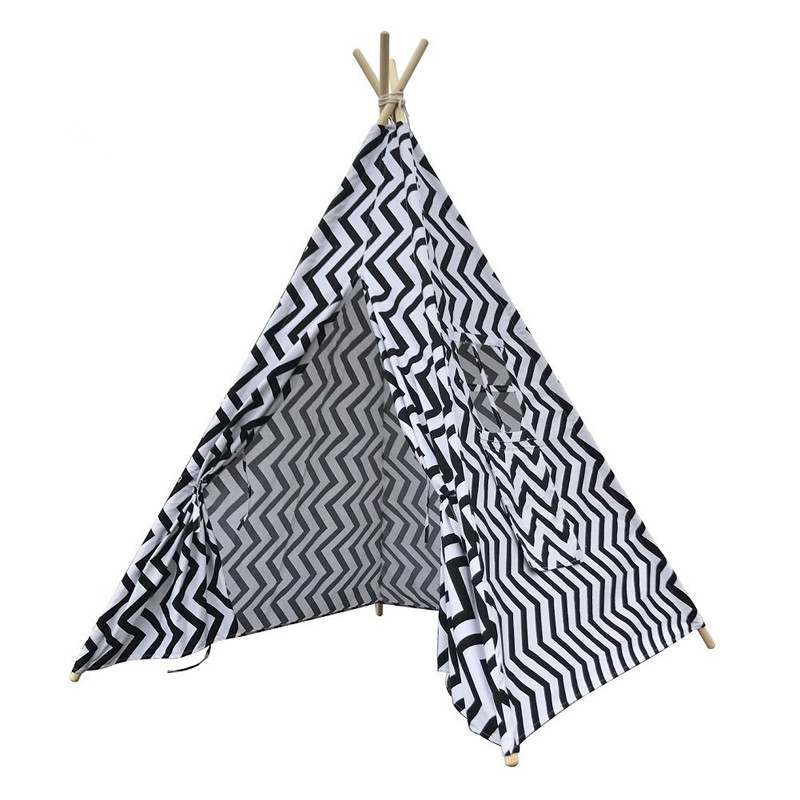 Cotton Canvas Indoor Chidrens Teepee Play Tent Tipis Wigwam