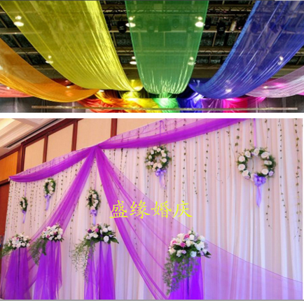 Wedding gauze curtain stair handrail decorative yarn marriage room snow  yarn Decoration canopy decor Wedding 0.75