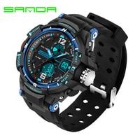 SANDA Brand Children Sports Watches Waterproof Fashion Casual Quartz Digital Watch Boys Girls LED Multifunction Wristwatches