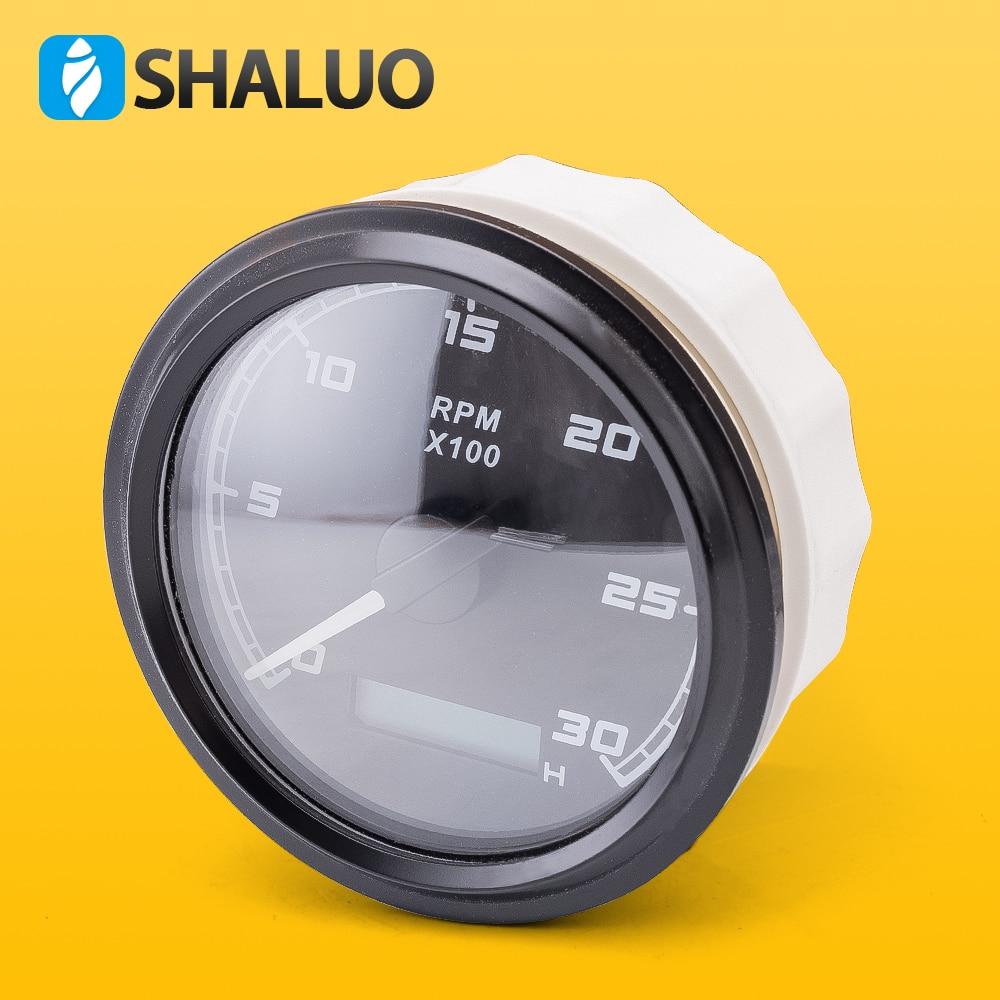 Contrôle analogique panneau rpm heure vitesse compteur affichage lcd VDO mécanique diesel moteur numérique tachymètre jauge 12V 24V commun