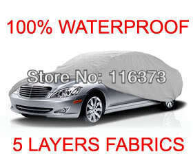 5 Layer Car Cover Outdoor Water Proof Indoor Fit VOLKSWAGEN JETTA STATION WAGON 2005 2006 2007