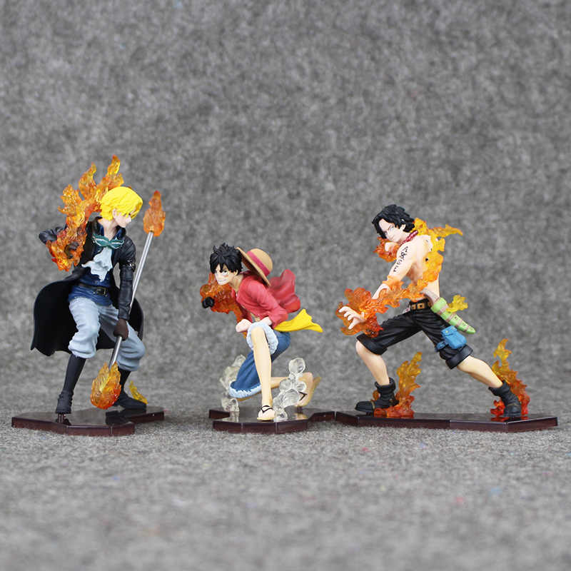 3 Cái/lốc 14 Cm Trong Hoạt Bộ Tấn Công Tạo Kiểu Luffy + Sabo + ACE Nhựa PVC Nhân Vật Sưu Tập Đồ Chơi Mô Hình
