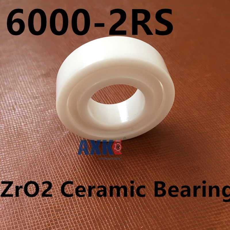 Free shipping 6000-2RS full ZrO2 ceramic deep groove ball bearing 10x26x8mm 6000 2RS ada instruments 3d liner 2v