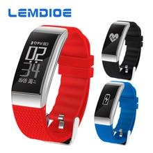 Lemdioe DB07 IP68 Водонепроницаемый Фитнес браслет Поддержка артериального давления ЭКГ монитор сердечного ритма спортивные трекер Smart Band