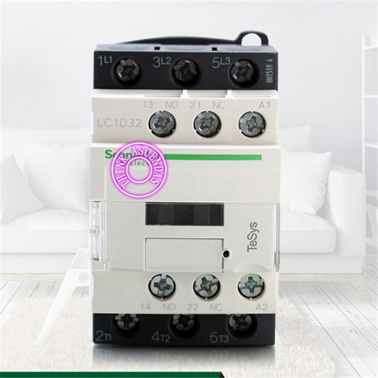LC1D Series Contactor LC1D32 LC1D32KD 100V LC1D32LD 200V LC1D32MD 220V LC1D32ND 60V LC1D32PD 155V LC1D32QD 174V LC1D32ZD 20V DC new cad50bdc dc24v tesys d series contactor control relay 5no 0nc