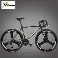 New Brand Road Bike Carbon Steel Frame 700CC Wheel 21 27 Speed Dual Disc Brake Bicicleta