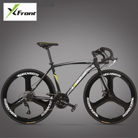 New Brand Road Bike Carbon Steel Frame 700CC Wheel 21 27 Speed Dual Disc Brake Bicicleta