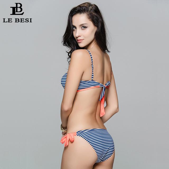 LE BESI Bandage Swimwear Women's Bikini Set