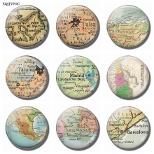 Refrigerator Map Stickers Decor Sequoia Tulsa Oklahoma Honduras Tacoma Madrid Delaware Mexico Louisiana Barcelona Fridge Magnets