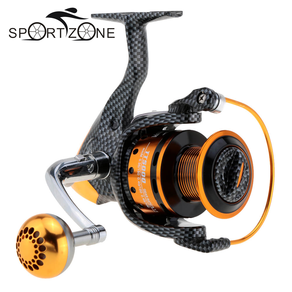 Prix pour 12 + BB Gauche Main Droite Moulinet De Pêche 5.2: 1 Spinning Reel TT2000/3000/4000/5000/6000 Inter-variable Frein Avant Roue De Poissons Pesca