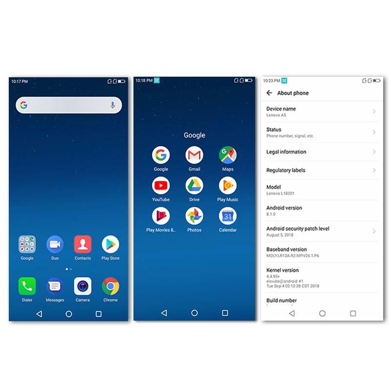Image 4 - Lenovo A5 Global Version 3GB RAM 16GB ROM Mobile Phone MTK6739 Quad Core 5.45' Smart Phone Fingerprint 4G LTE Cellphone-in Cellphones from Cellphones & Telecommunications