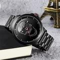 Мужские часы в стиле «панк» с 3D черепом  фирменные Роскошные Кварцевые часы из стали  водонепроницаемые армейские военные наручные часы