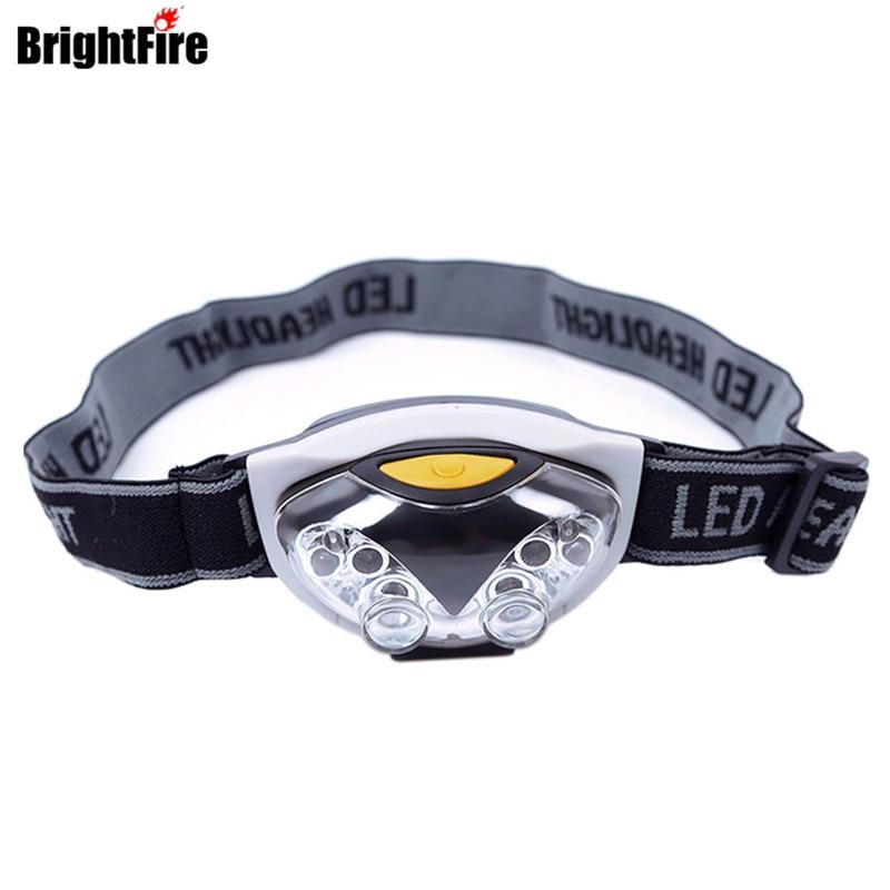 6 LED bulbs Headlamp Owl Fishing Head Light with 4 white led bulbs + 2 Red Led Bulb Headlamps