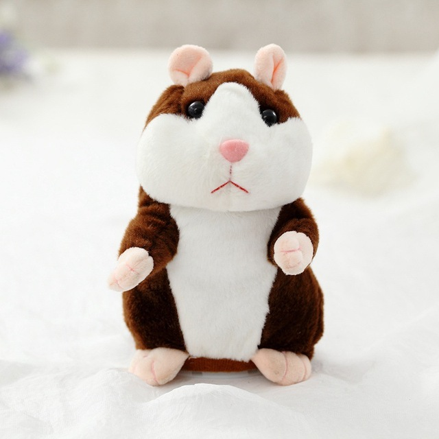 Dropshipping Promotion 15cm Lovely Talking Hamster Speak Talk Sound Record Repeat Stuffed Plush Animal Kawaii Hamster Toys 2