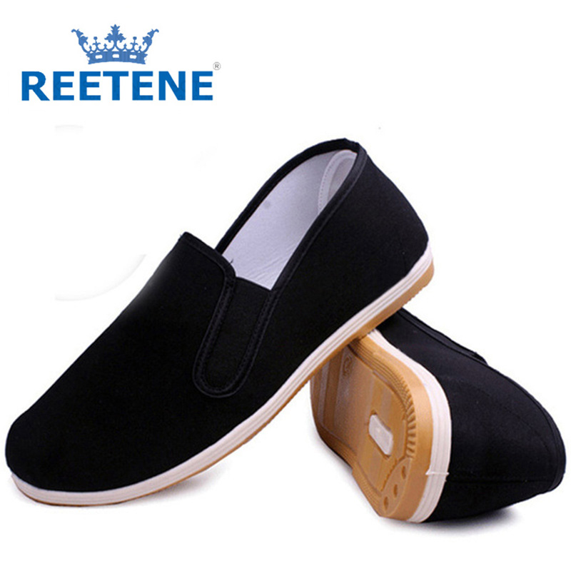 Cheap Casual Men Shoes Chinese Style Cloth Mens Breathable Cotton Comfortable Men'S Flats Plus Size 45 46 - REETENE store