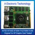 O envio gratuito de marca original para hp placa gráfica para thinkpad w700 w700s 8730 w fx2700m 512 m placa de vídeo placa de vídeo