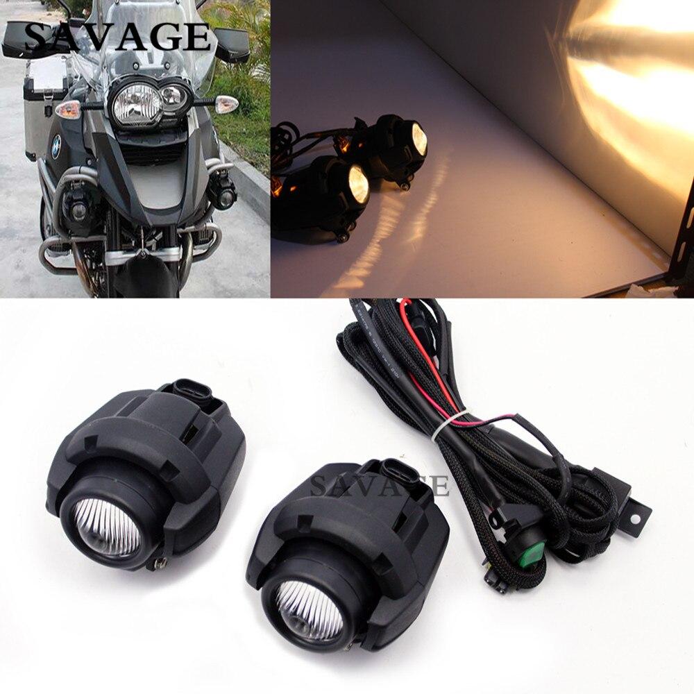 New Motorcycle Black Fog Light Kit For B M W R1200GS R 1200GS ADV K1600