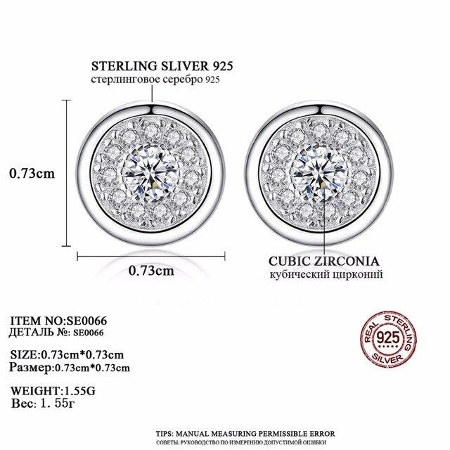 CZCITY 925 Sterling Silver Orecchini con perno per Le Donne Micro Pavimenta Zircone Cubico di Viti Prigioniere Dell'orecchino Dell'orecchio di Spessore Tappi Per Le Orecchie Piercing Della Earing