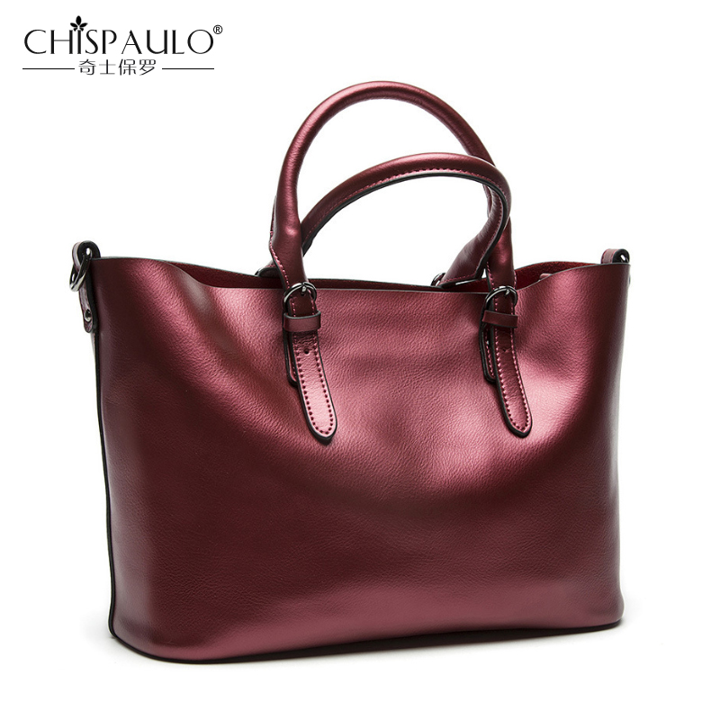 2017 Genuine Leather Women Shoulder Bag Famous Brand luxury handbags Women Bags Designer High quality Ladies Casual Tote