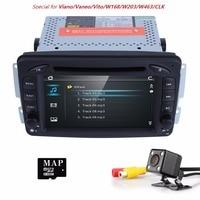 Wholesale! car radio DVD gps navigation For Mercedes Benz Viano Vito W203 W209 C Class W463 3G Radio Mirrorlink SWC RDS BT DTVB