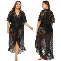 Plus Size Beach Cover Up Bikini Crochet Knitted Tassel Tie Beachwear Summer Swimsuit Cover Up Sexy See through Beach Dress