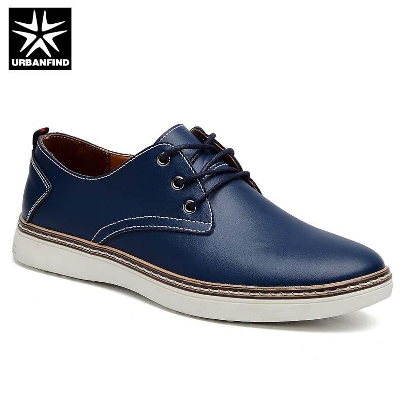 De Casual Marque En Chaussures Homme Printemps 38 Hommes Style 2019 Britannique Black Mâle 47 Plus Appartements brown Automne Taille Mode blue Bureau La Cuir D'affaires IPO0wFq