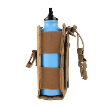 600D Nylon Tactical Molle etui na butelkę wody wojskowe stołówka pokrywa kabura odkryty czajnik podróżny torba sportowa torba 2019 tanie i dobre opinie GZYF CN (pochodzenie) Unisex Miękka osłona