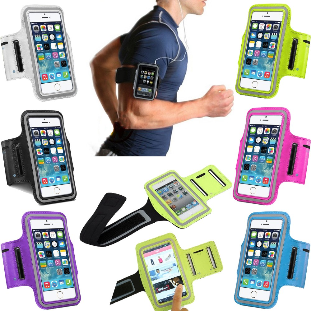 Sport Running Waterproof Armband For iphone 7 Plus Cover Pouch 6s Arm Band For XiaoMi RedMi Note 3 4 4X 5 S7 Edge S8 Phone Cases