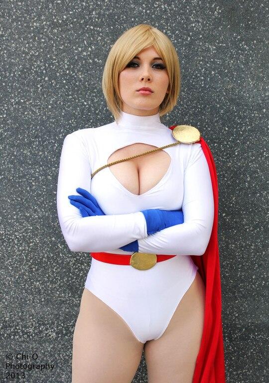 Hot Sale New Power Girl costume Spandex Female Superhero Costume Lady Cosplay Comic Costume Halloween Zentai Catsuit