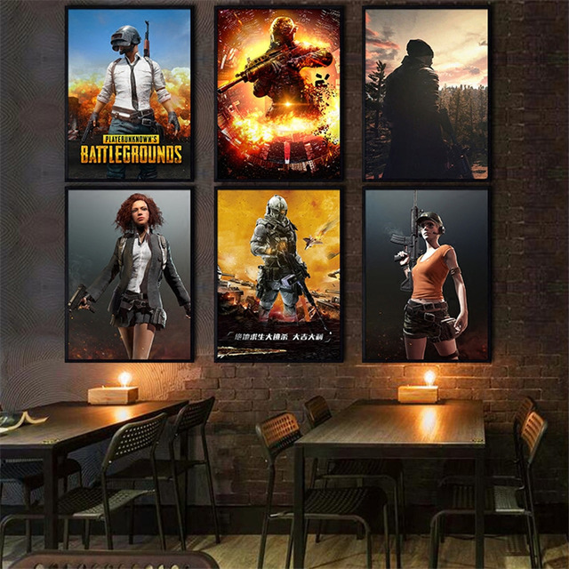 Internet cafes PUBG Painting quality Art Decor room personality Home Decor posters canvas painting No Frame E162