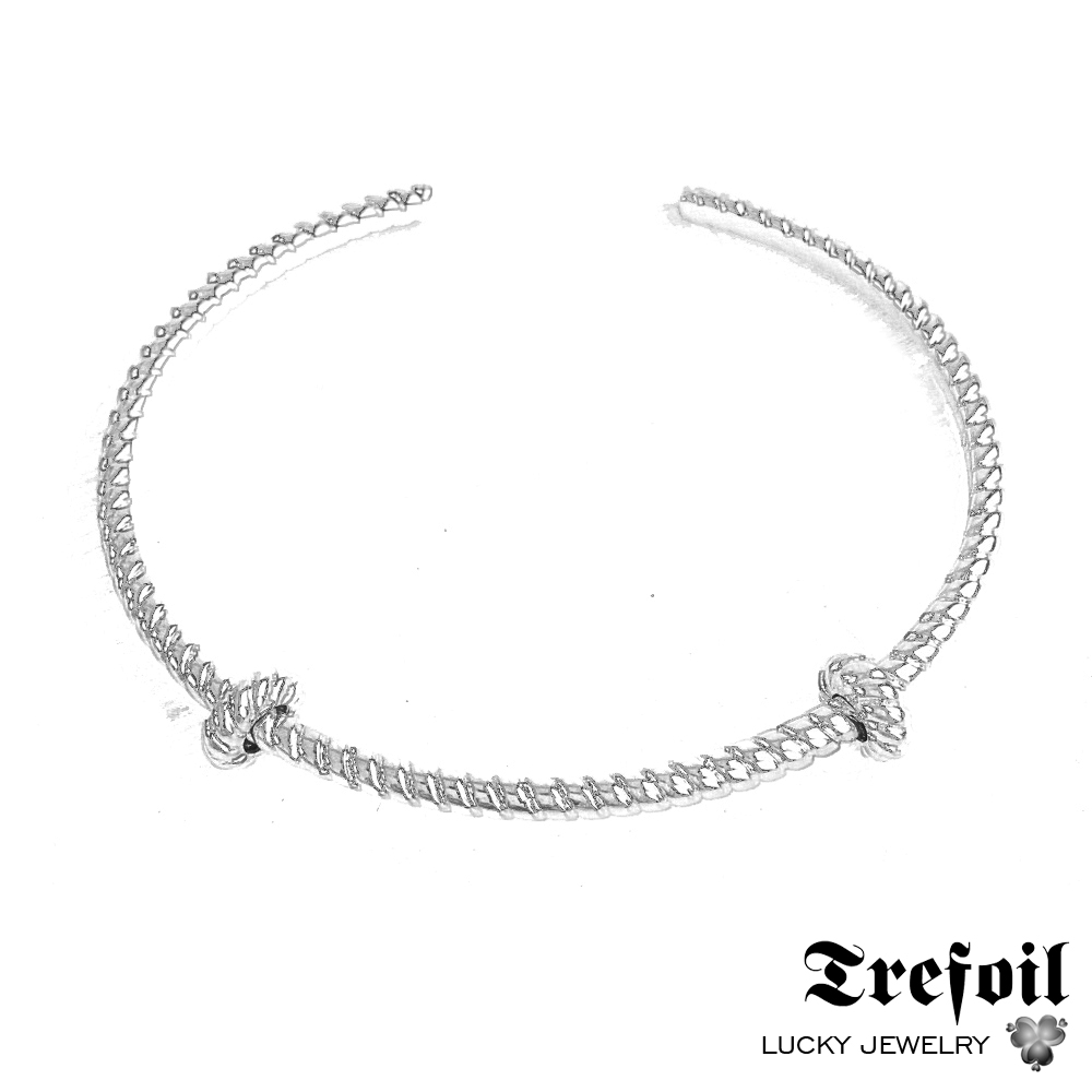 Bangles Cord Look Carrier,2018 New Fashion Jewelry Accessories Basic Trendy Bracelet 925 Sterling Silver Gift For Women Men