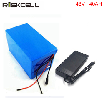 High Capacity 48V 40ah Rechargeable Lithium Ion Battery Pack  with 50A discharge rate current  BMS