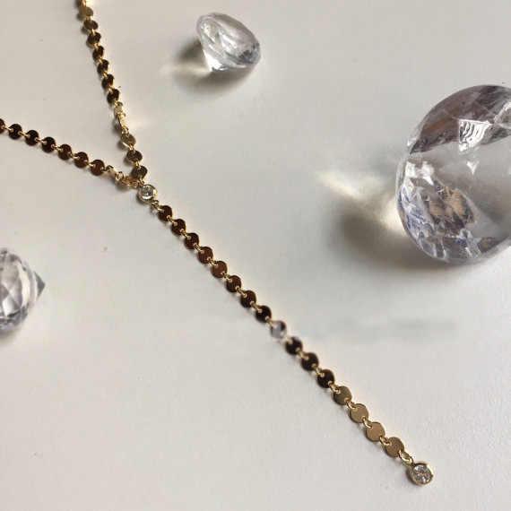 Multi-couche à la main simple couche pailletée long cou anneau avec strass gland pendentif collier collier clavicule chaîne mode
