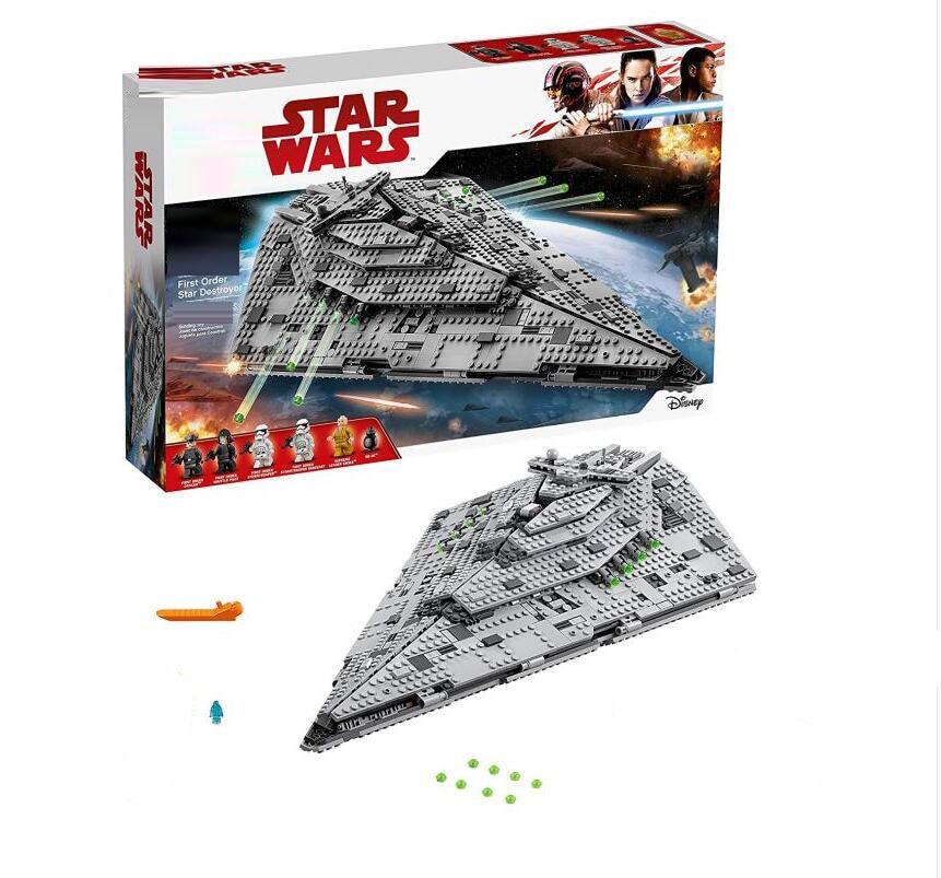 First Order Star Destroyer Costruzion Model 1457pcs Star Wars  Lepines Building Blocks Bricks Toys Compatible  75190