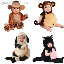 6-12M Baby Photography Props Cartoon Hat+Rompers Costume Boy