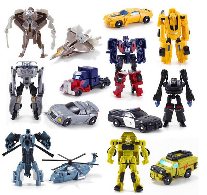 Cool !!! 1PCS Transformation Kids Classic Robot Cars Toys For Children Action & Toy Figures free shipping pixar cars 2 sheriff diecast metal classic toy cars for kids children brio toy car 1 55 for children kids toys thomas and friend