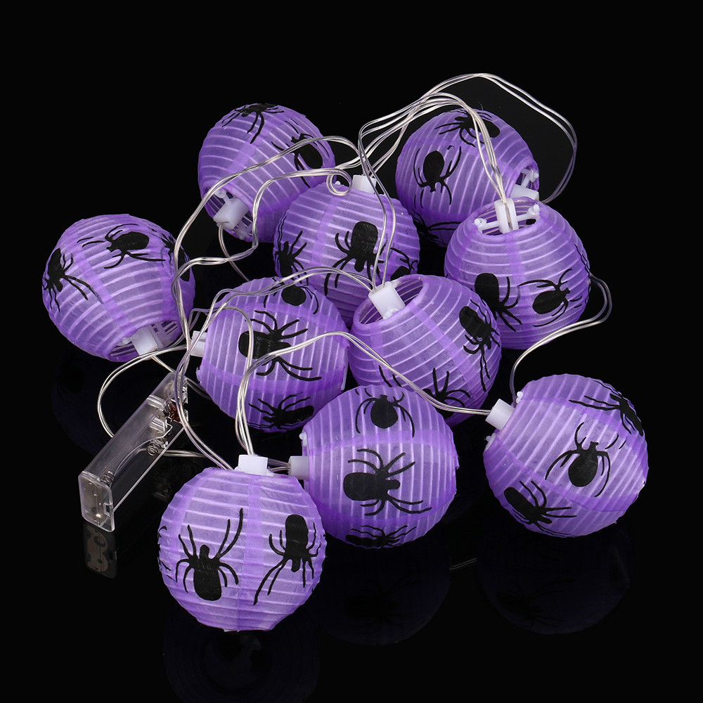 Dropshipping 2.3M 10LED Purple String Lights For Halloween Party Decor Halloween Light