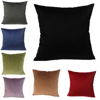 Candy Color Strips Dutch Velvet Cushion Cover Car Sofa 2017 Pillow Case With Zipper Multi Sizes