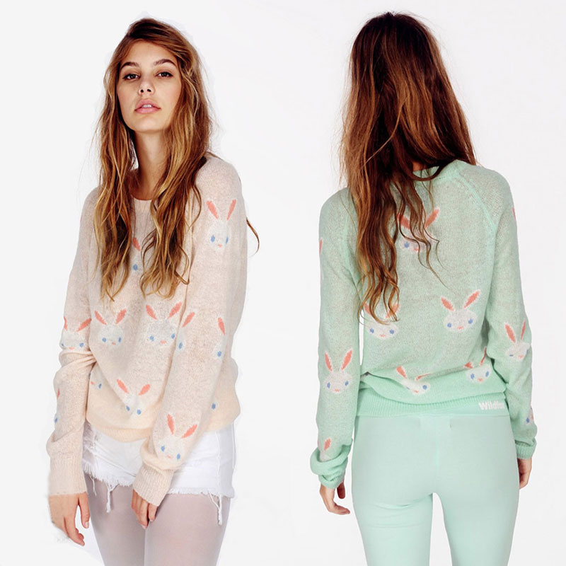 Cou À Broderie 100Pur Pulls Tricoté Printemps light Pink Femmes Sueter Mujer Cachemire Chandails 2018 Pull Manches Green Hauts Longues O PkNnwX80O