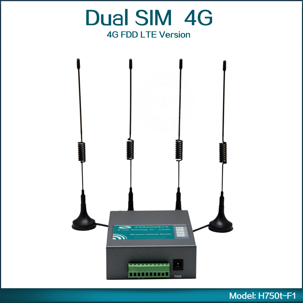 Industrial Grade 4G FDD LTE Wireless Router 4G Wifi Router With Dual Sim Card Slot ( Model:H750t F1 )